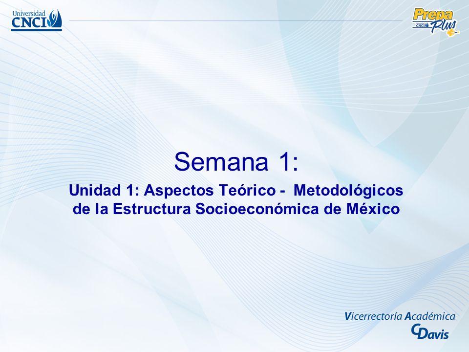Semana 1: Unidad 1: Aspectos Teórico - Metodológicos de la Estructura Socioeconómica de México