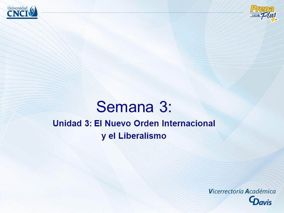 Unidad 3: El Nuevo Orden Internacional