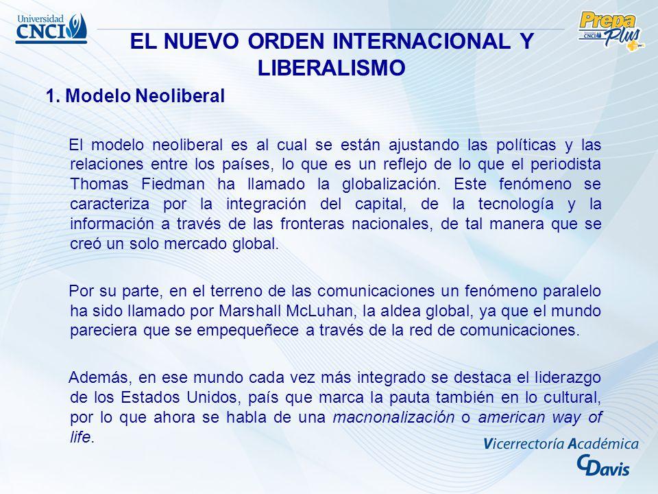 EL NUEVO ORDEN INTERNACIONAL Y LIBERALISMO