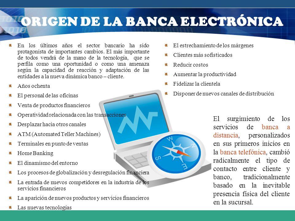 ORIGEN DE LA BANCA ELECTRÓNICA