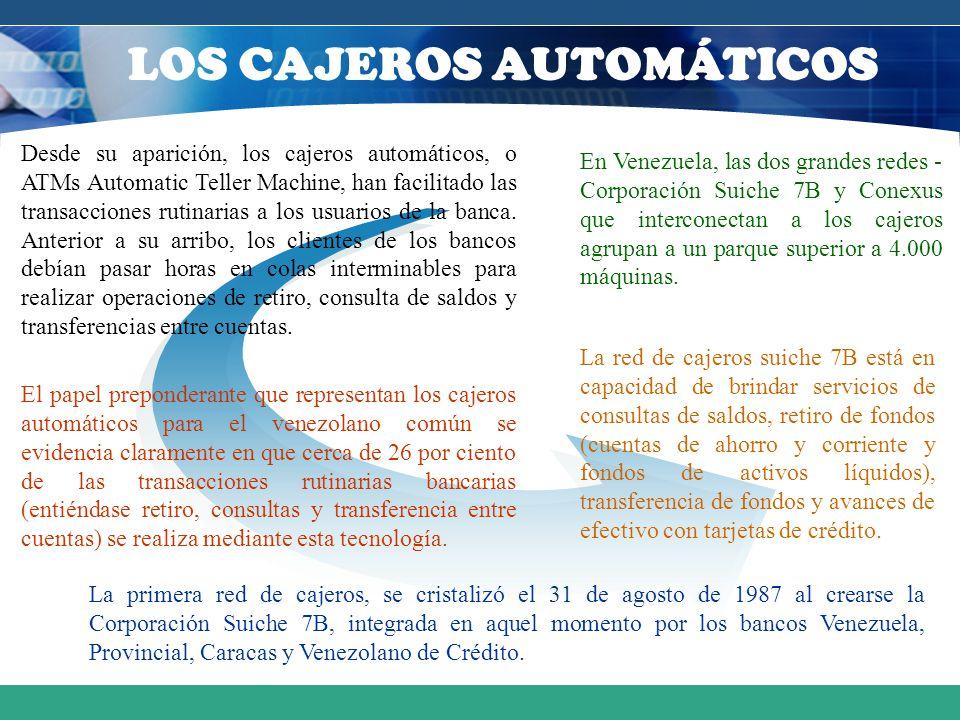 LOS CAJEROS AUTOMÁTICOS
