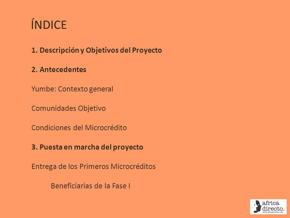 ÍNDICE 1. Descripción y Objetivos del Proyecto 2. Antecedentes
