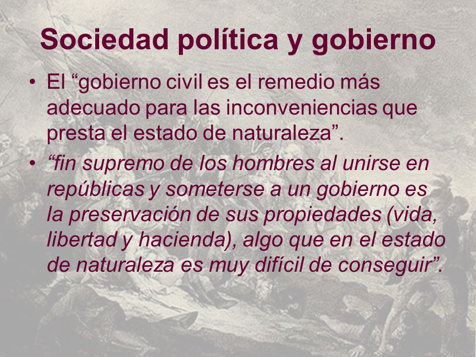 Sociedad política y gobierno