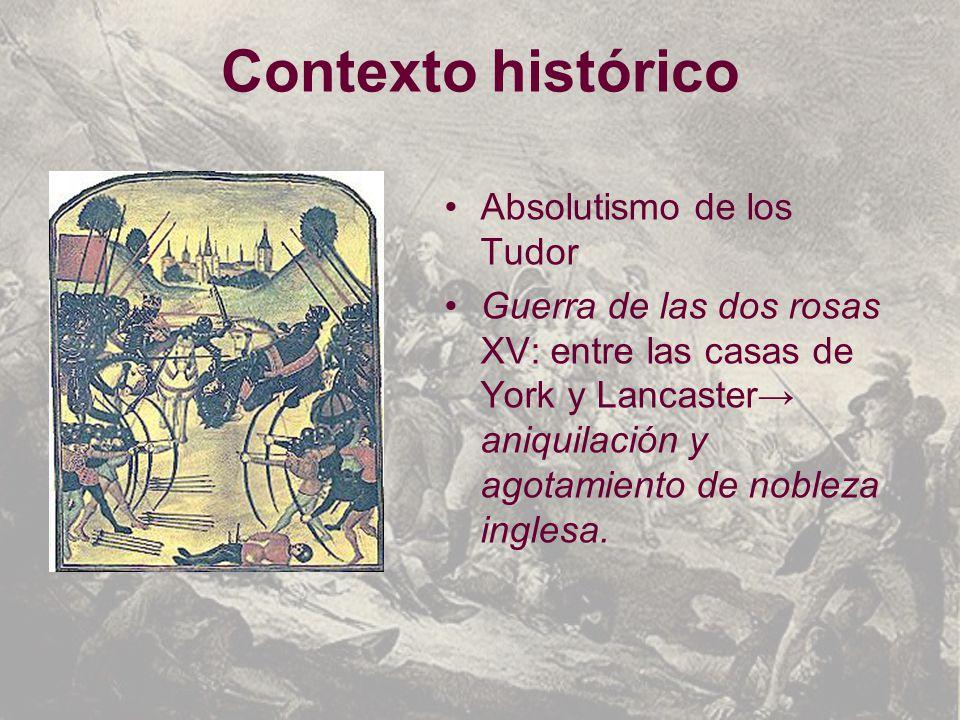Contexto histórico Absolutismo de los Tudor