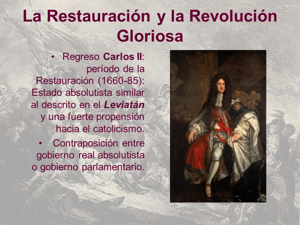 La Restauración y la Revolución Gloriosa
