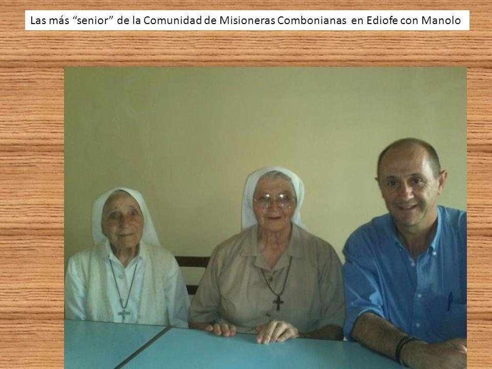 Las más senior de la Comunidad de Misioneras Combonianas en Ediofe con Manolo