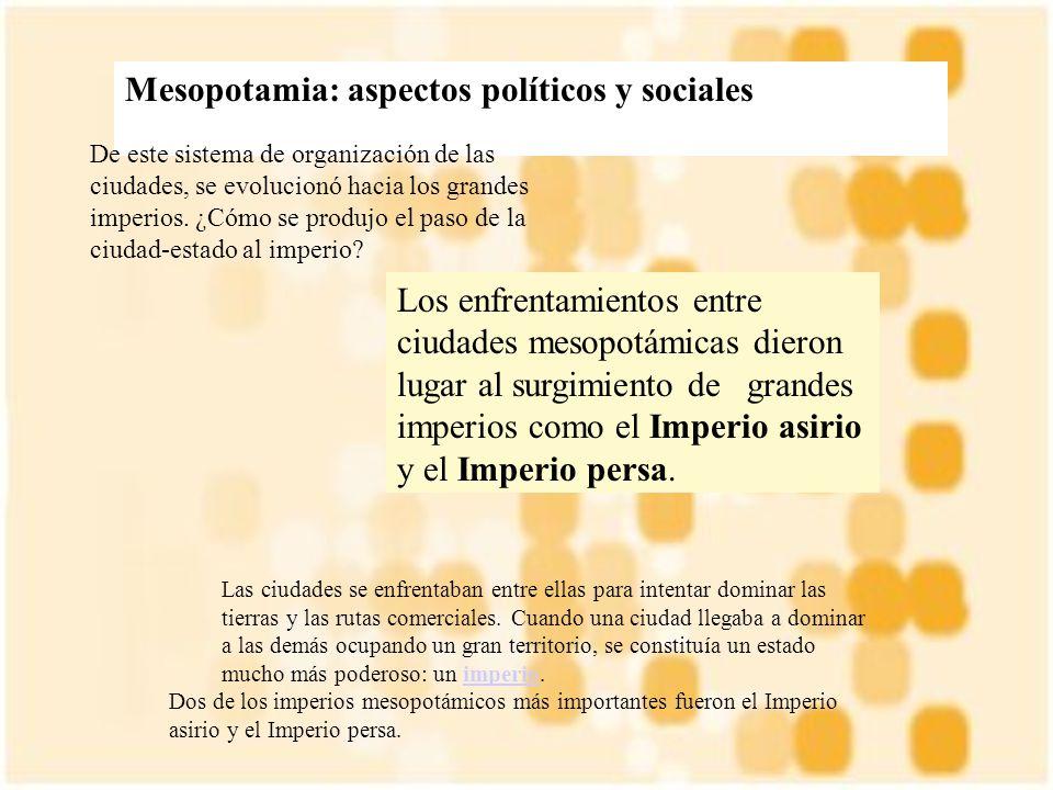 Mesopotamia: aspectos políticos y sociales
