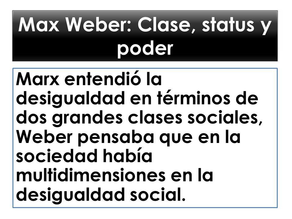 Max Weber: Clase, status y poder