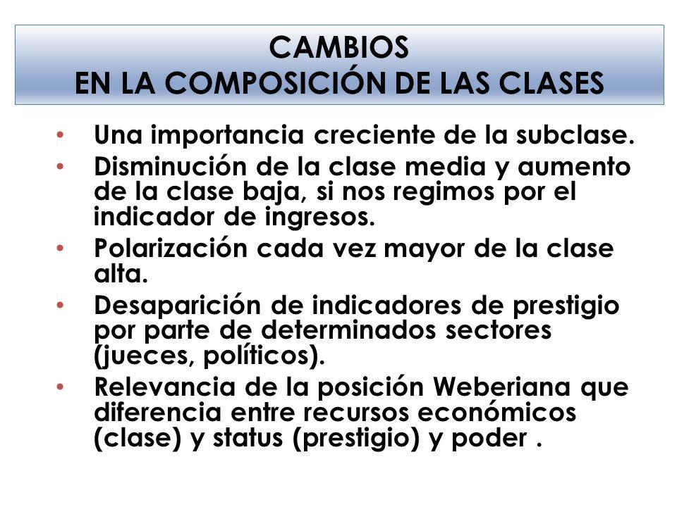 EN LA COMPOSICIÓN DE LAS CLASES