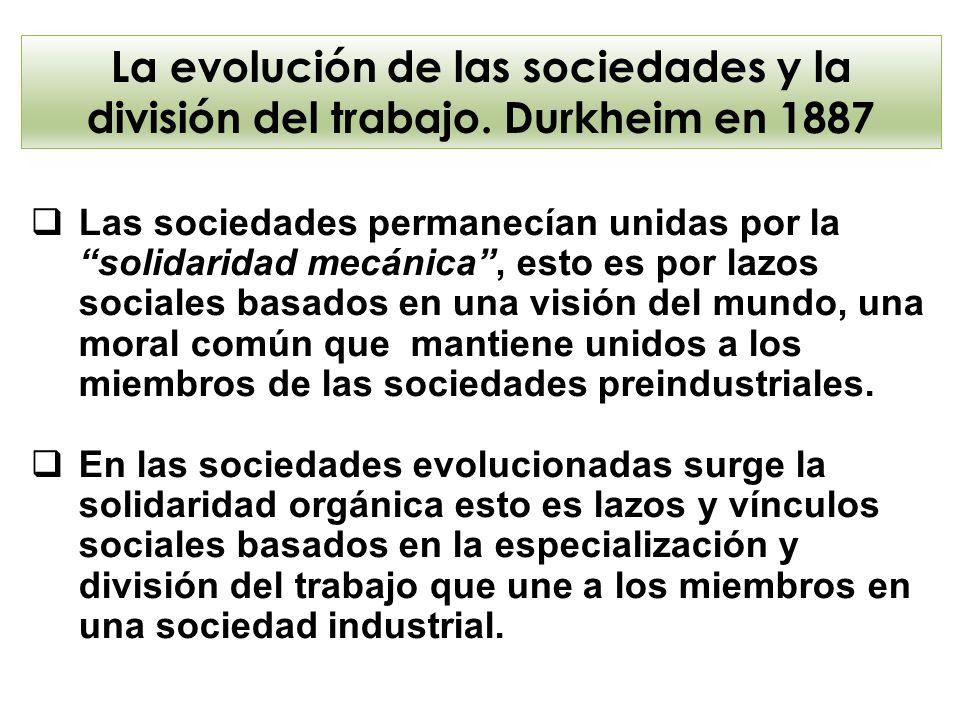 La evolución de las sociedades y la división del trabajo