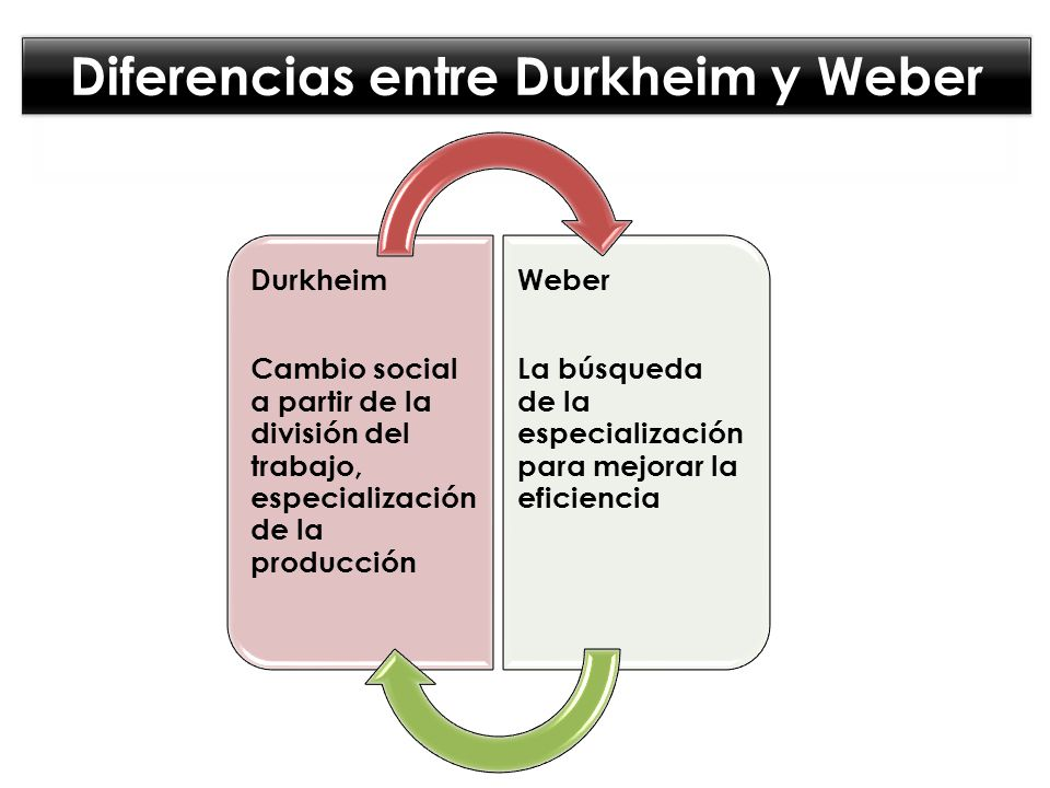 Diferencias entre Durkheim y Weber