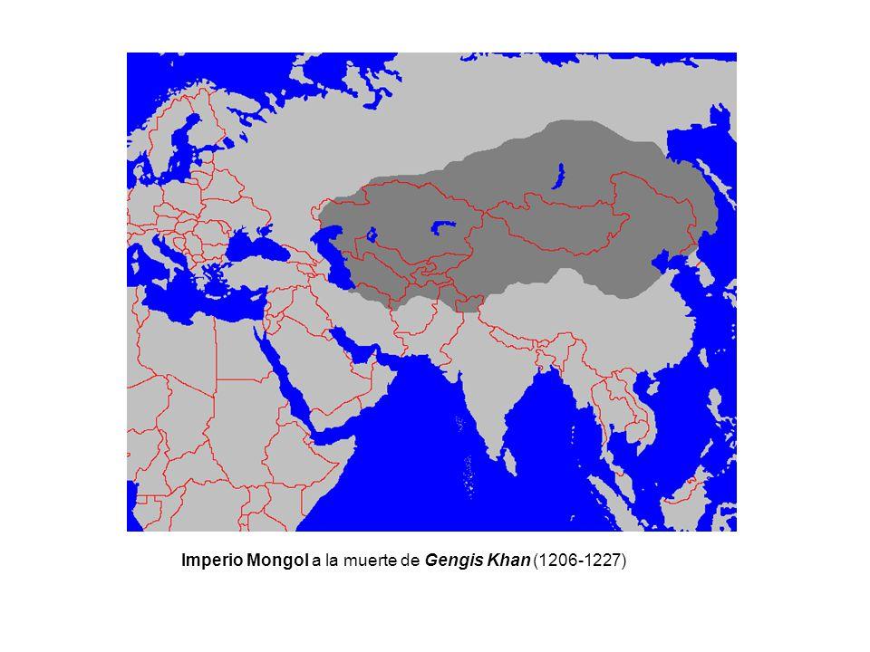 Imperio Mongol a la muerte de Gengis Khan (1206-1227)