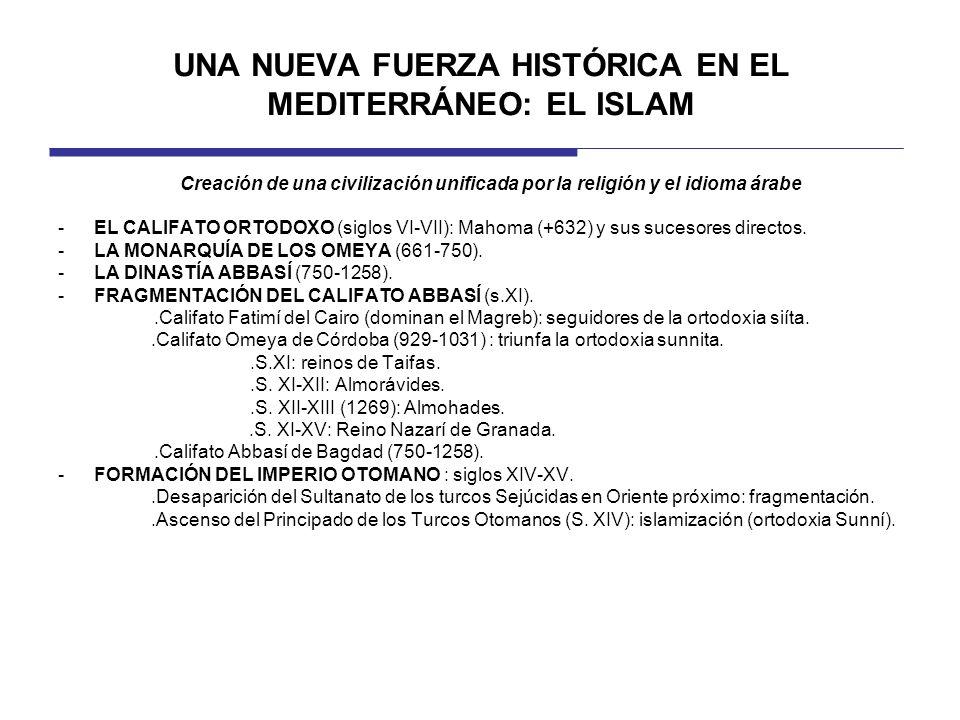 UNA NUEVA FUERZA HISTÓRICA EN EL MEDITERRÁNEO: EL ISLAM