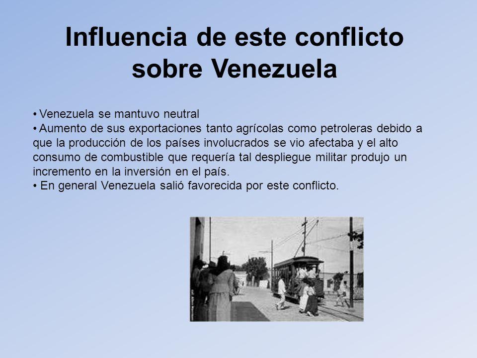 Influencia de este conflicto sobre Venezuela