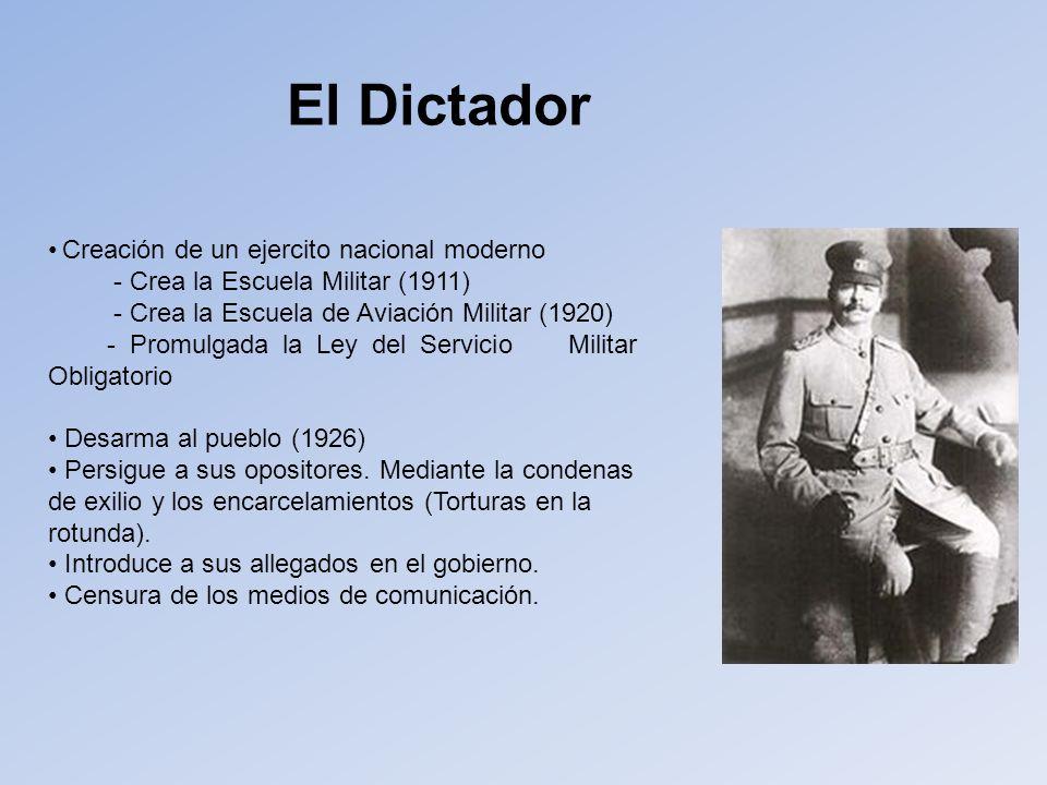 El Dictador Creación de un ejercito nacional moderno