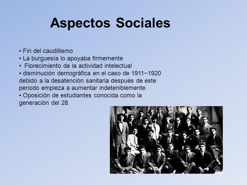 Aspectos Sociales Fin del caudillismo
