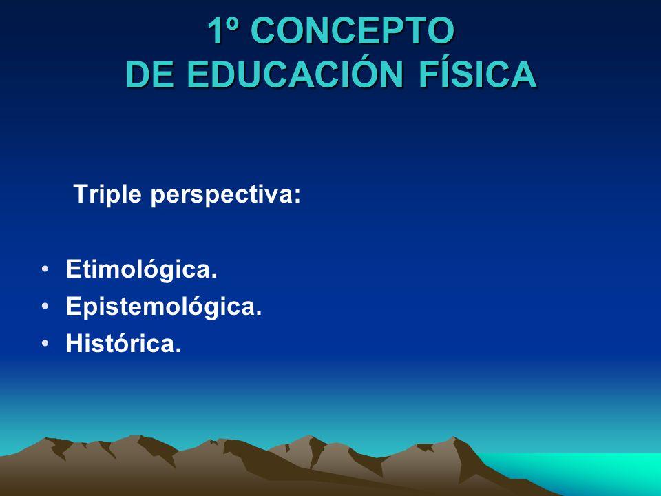 1º CONCEPTO DE EDUCACIÓN FÍSICA