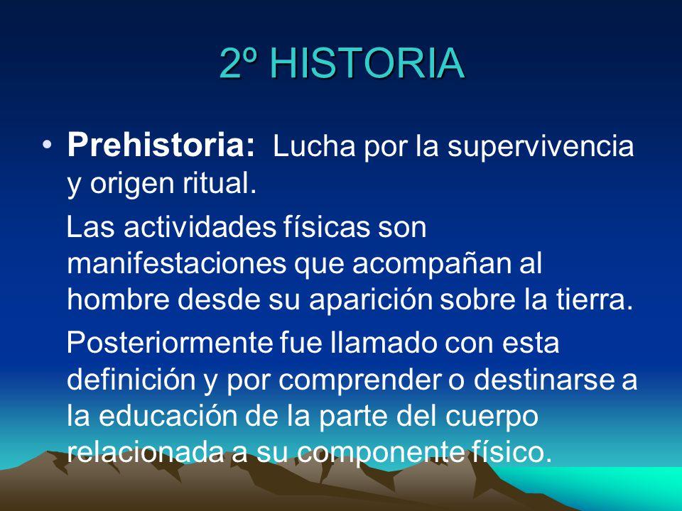 2º HISTORIA Prehistoria: Lucha por la supervivencia y origen ritual.