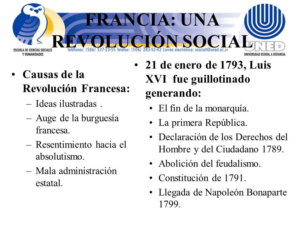 FRANCIA: UNA REVOLUCIÓN SOCIAL