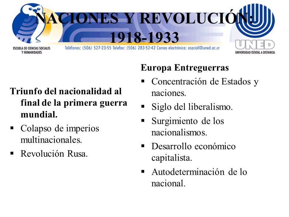 NACIONES Y REVOLUCIÓN: 1918-1933