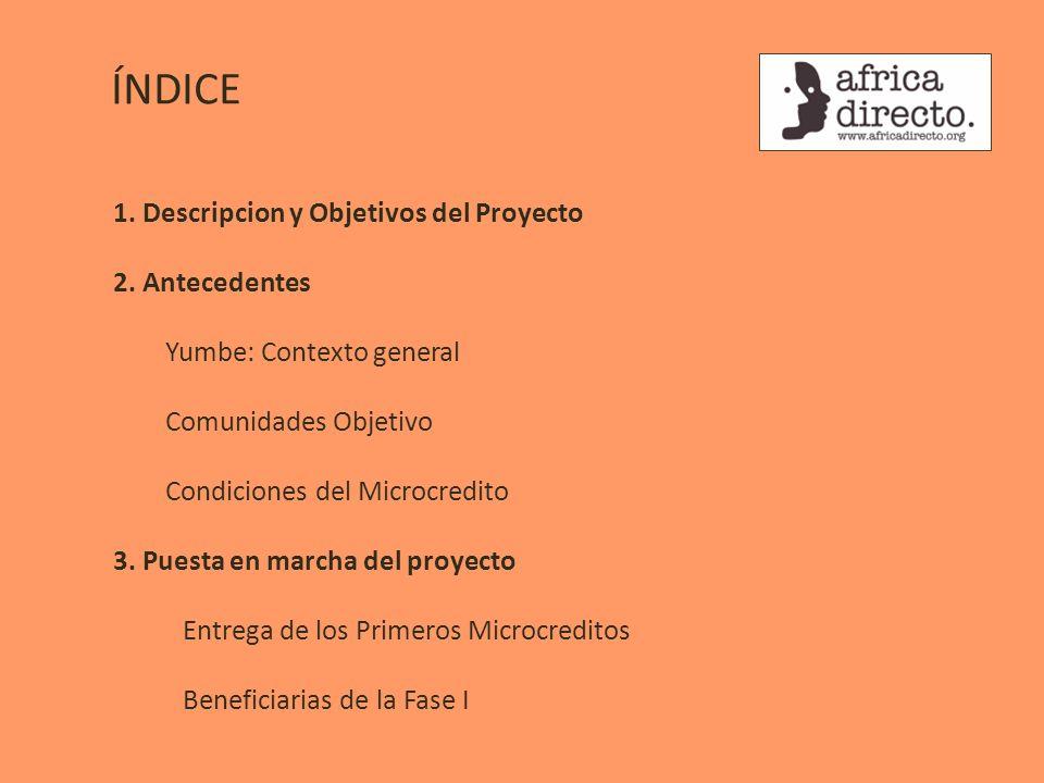 ÍNDICE 1. Descripcion y Objetivos del Proyecto 2. Antecedentes