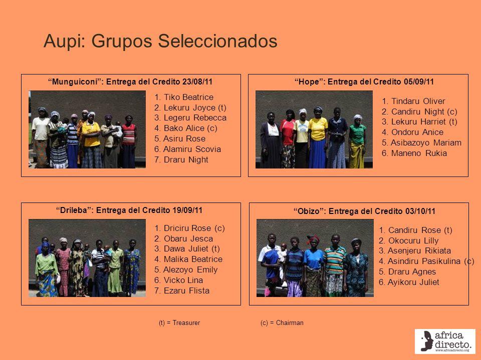 Aupi: Grupos Seleccionados