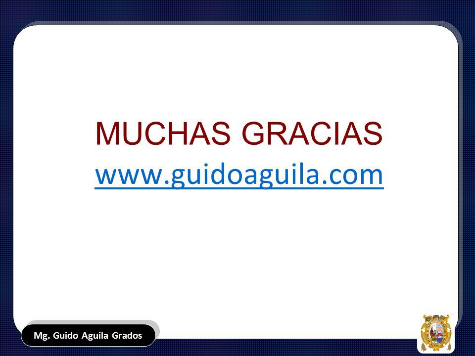 MUCHAS GRACIAS www.guidoaguila.com