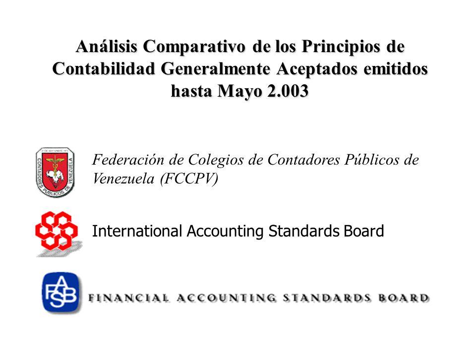 Análisis Comparativo de los Principios de Contabilidad Generalmente Aceptados emitidos hasta Mayo 2.003