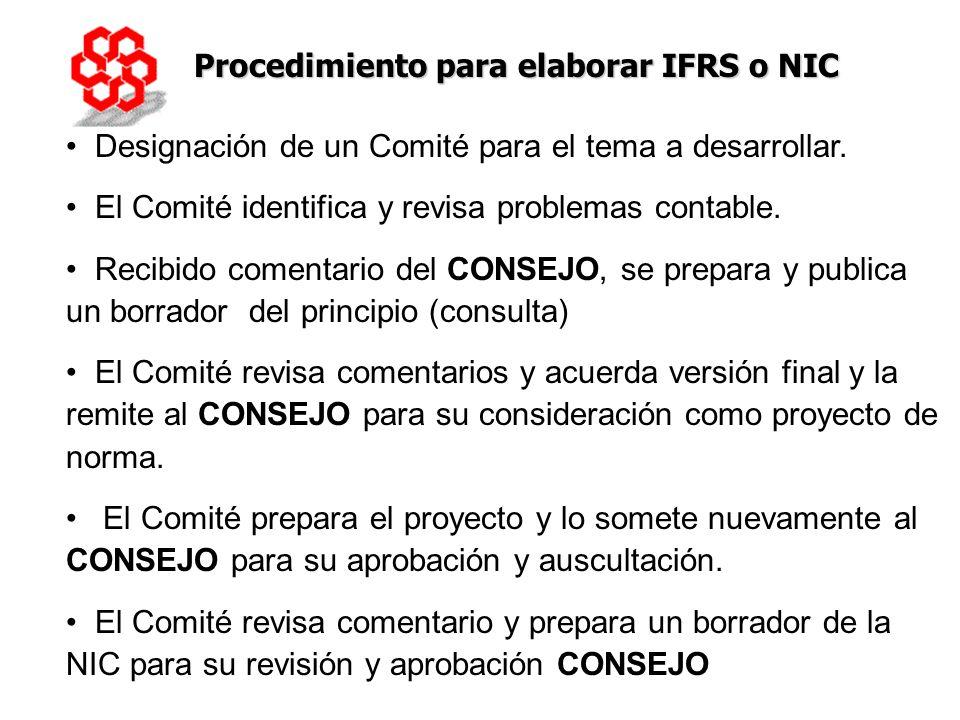 Procedimiento para elaborar IFRS o NIC