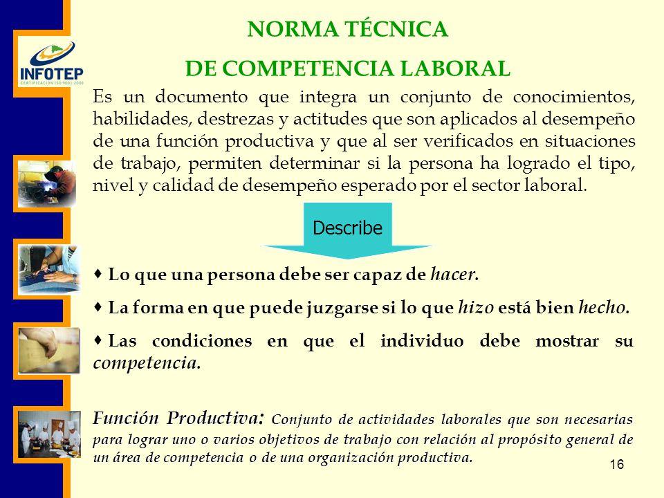 DE COMPETENCIA LABORAL