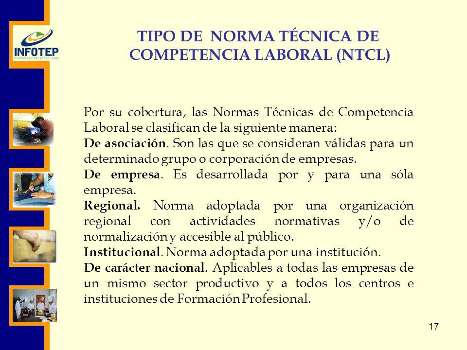 TIPO DE NORMA TÉCNICA DE