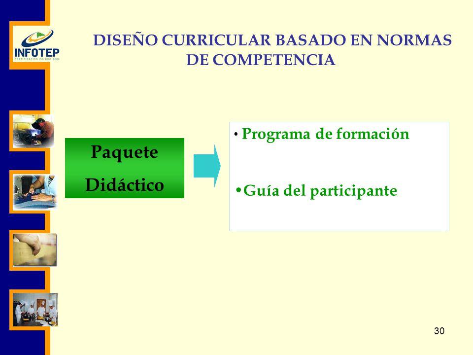 DISEÑO CURRICULAR BASADO EN NORMAS DE COMPETENCIA