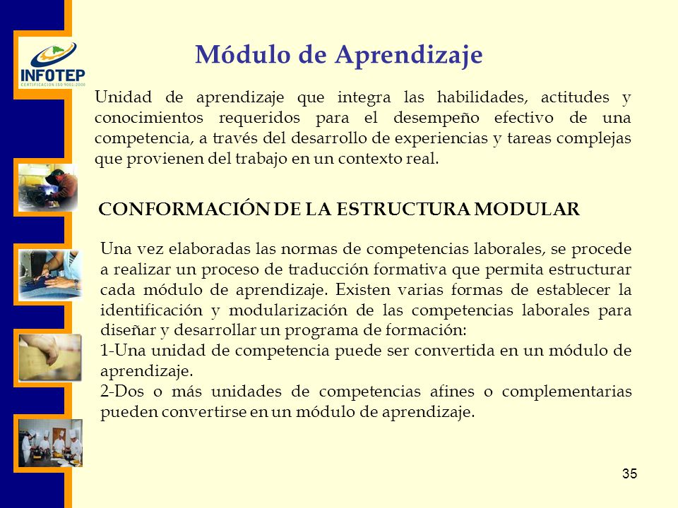 CONFORMACIÓN DE LA ESTRUCTURA MODULAR