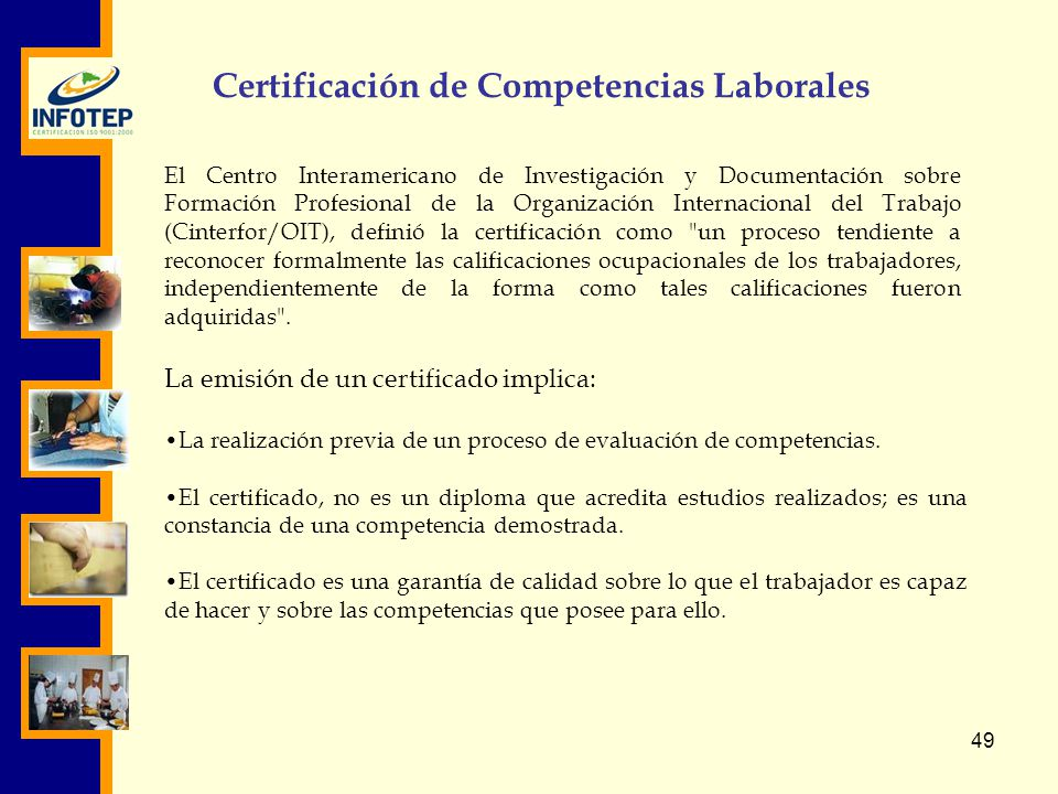 Certificación de Competencias Laborales