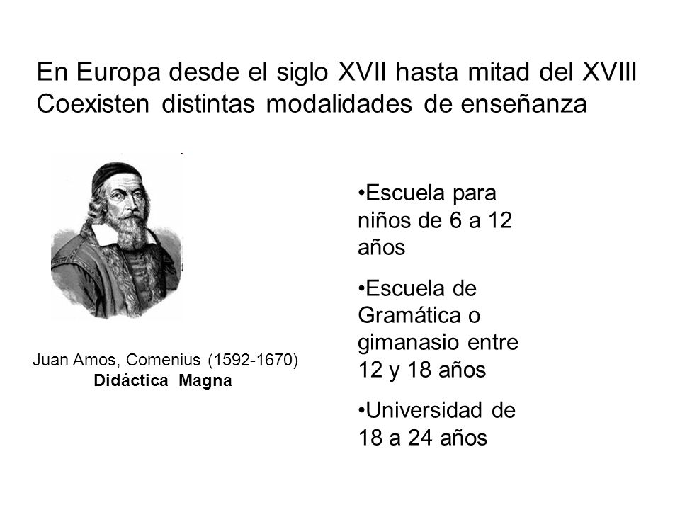 En Europa desde el siglo XVII hasta mitad del XVIII
