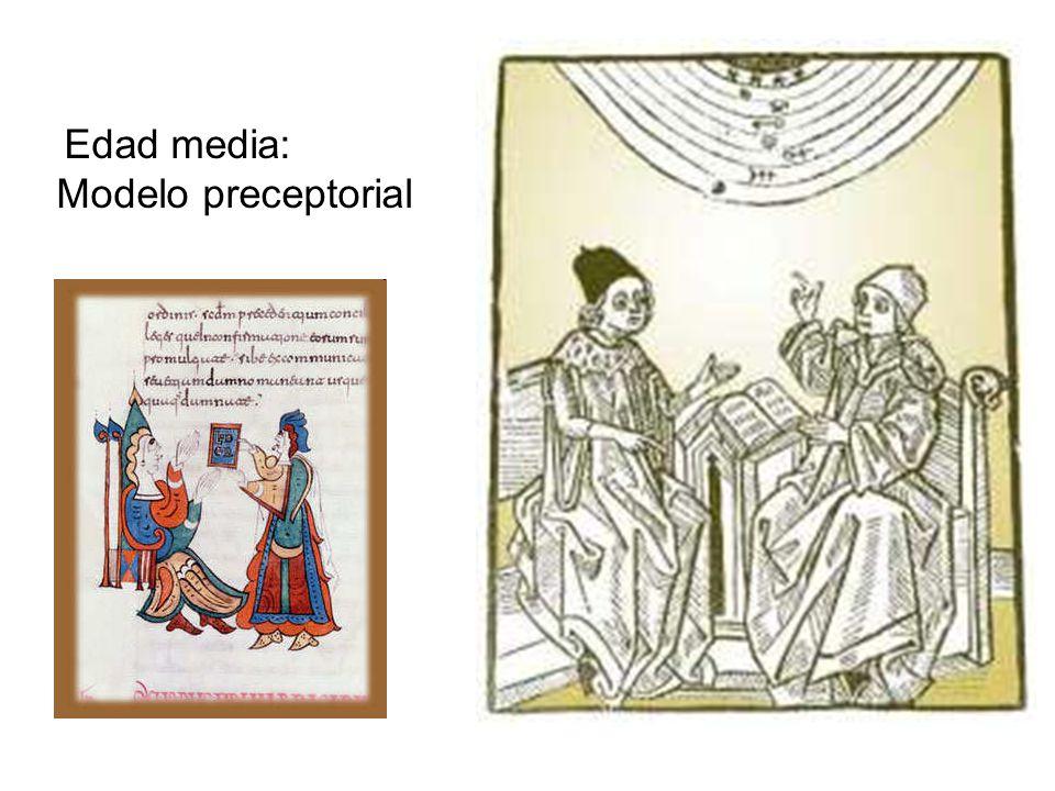 Edad media: Modelo preceptorial
