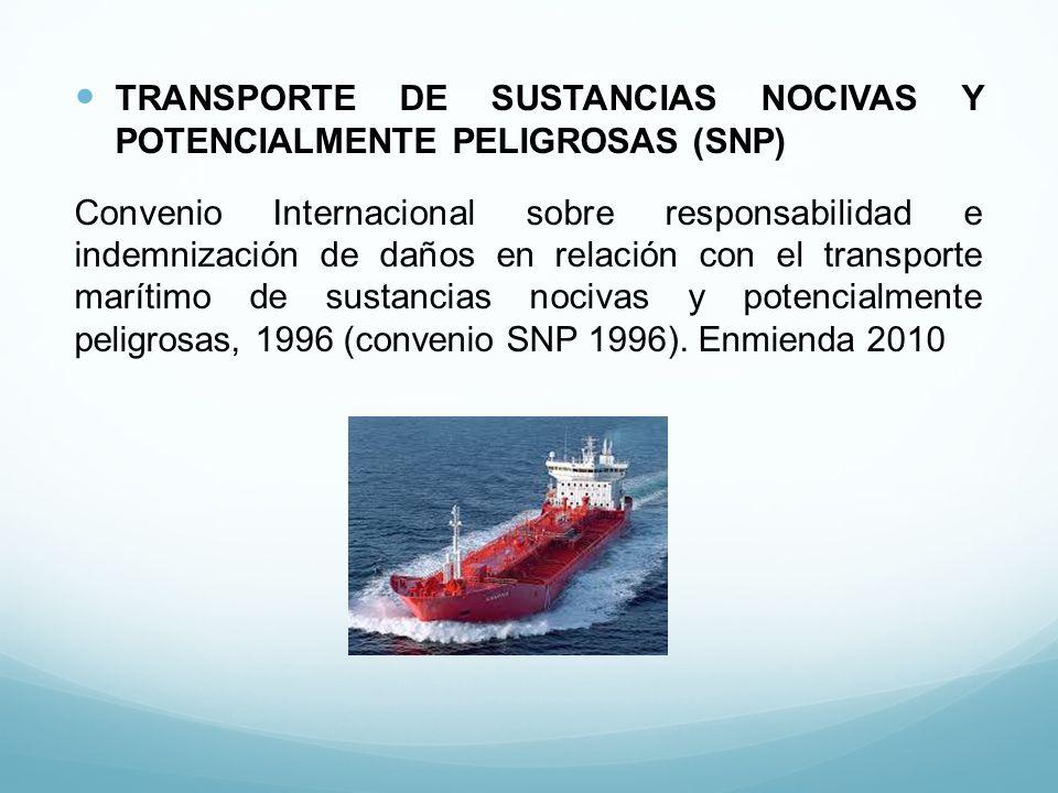 TRANSPORTE DE SUSTANCIAS NOCIVAS Y POTENCIALMENTE PELIGROSAS (SNP)