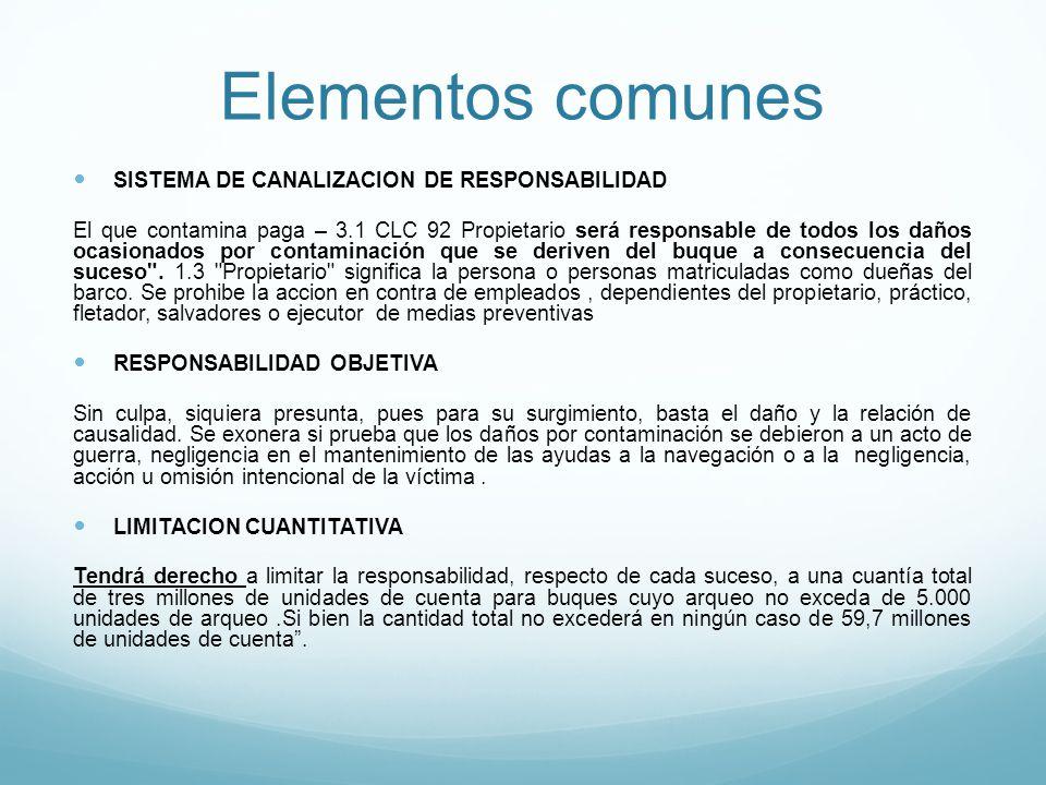 Elementos comunes SISTEMA DE CANALIZACION DE RESPONSABILIDAD