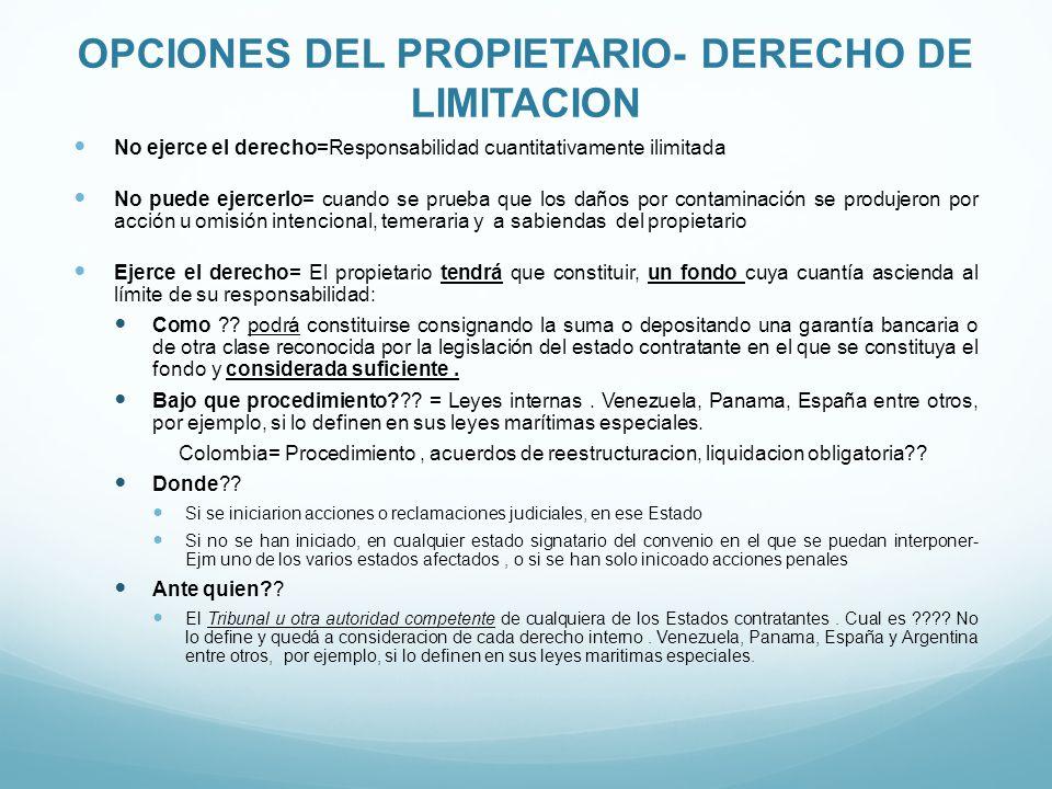 OPCIONES DEL PROPIETARIO- DERECHO DE LIMITACION