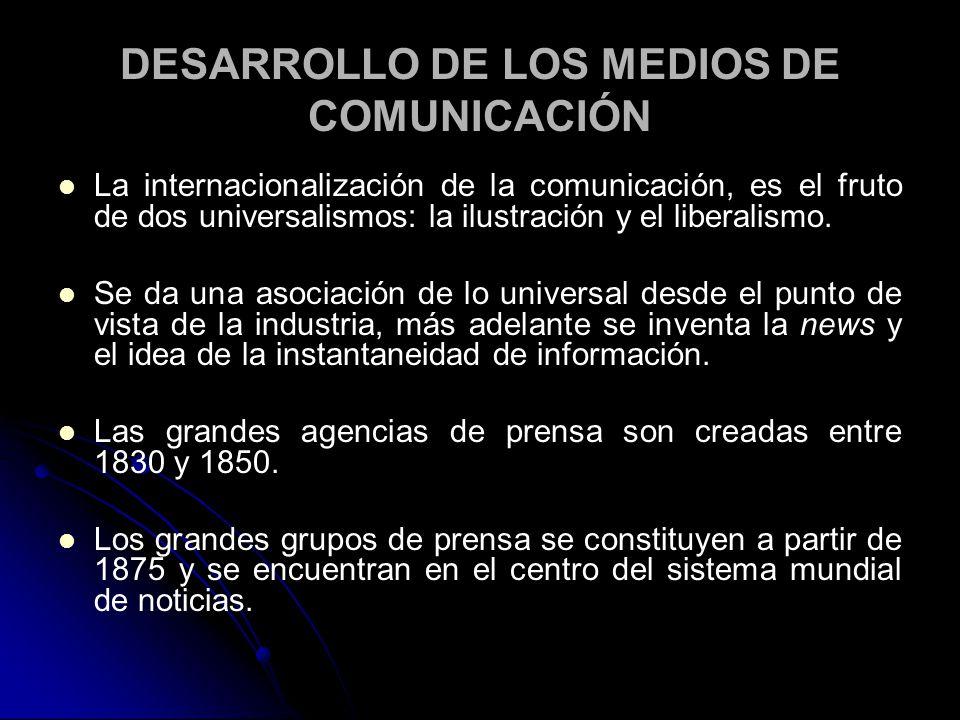 DESARROLLO DE LOS MEDIOS DE COMUNICACIÓN