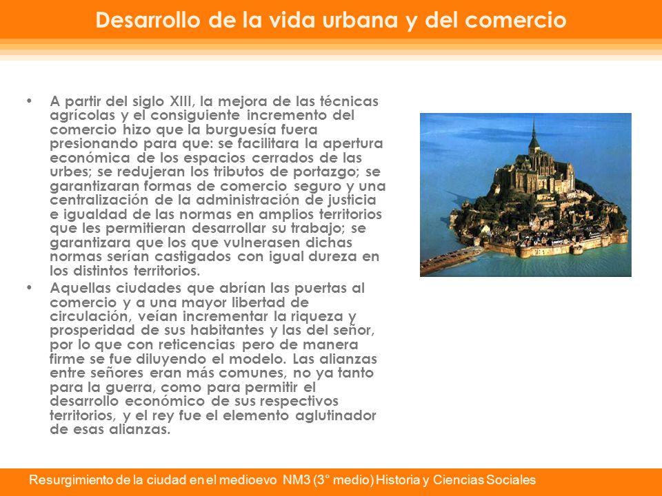 Desarrollo de la vida urbana y del comercio