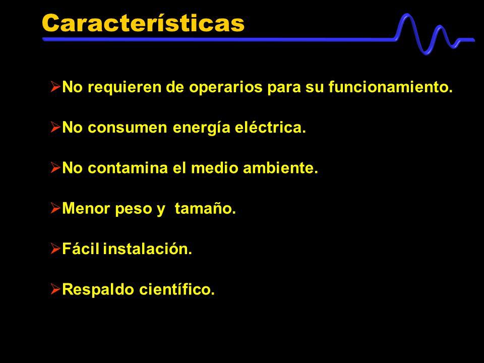 Características No requieren de operarios para su funcionamiento.