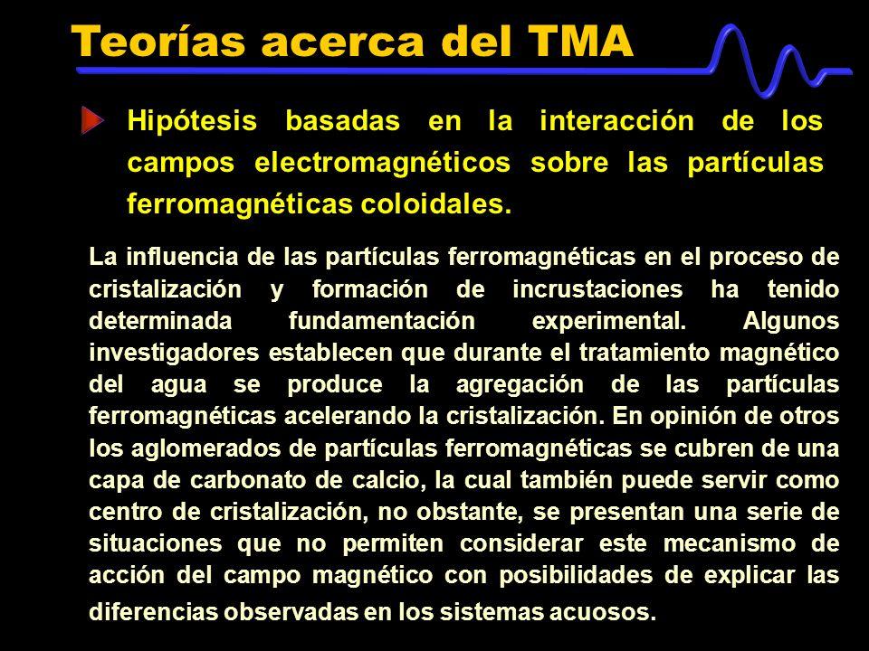 Teorías acerca del TMA Hipótesis basadas en la interacción de los campos electromagnéticos sobre las partículas ferromagnéticas coloidales.