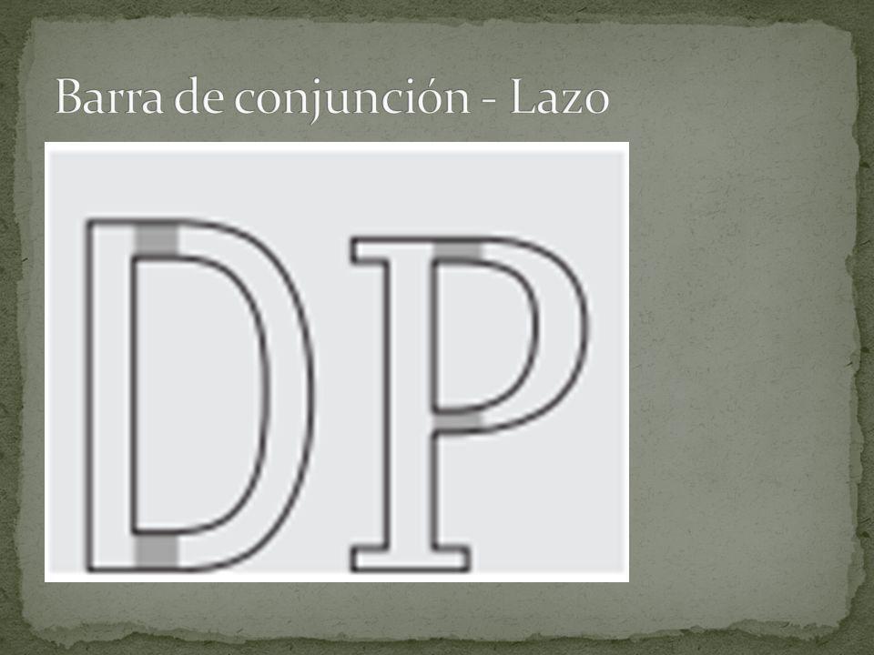 Barra de conjunción - Lazo