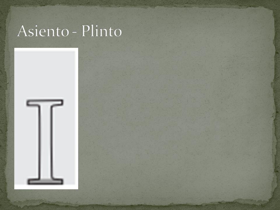 Asiento - Plinto