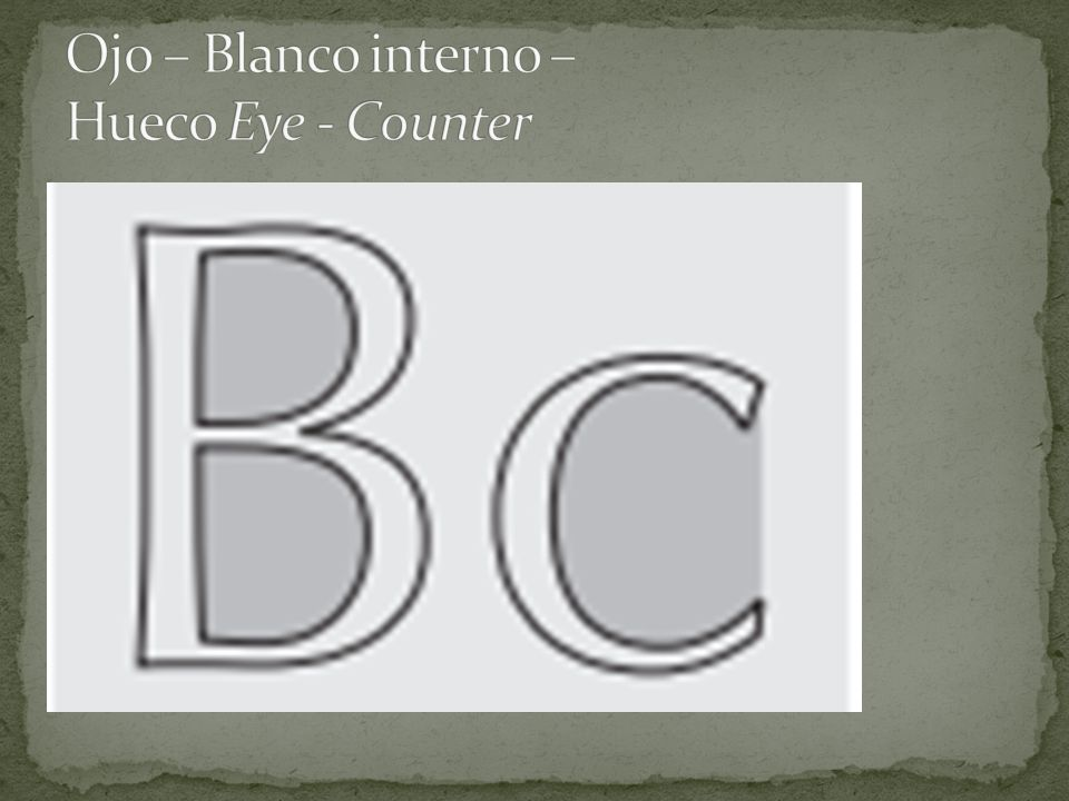 Ojo – Blanco interno – Hueco Eye - Counter