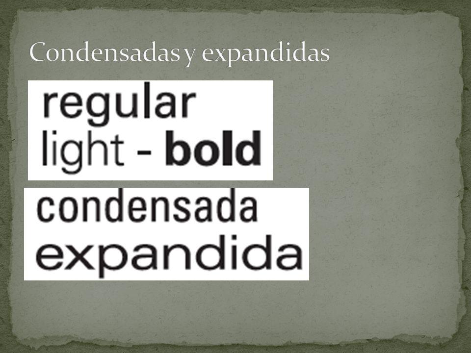 Condensadas y expandidas