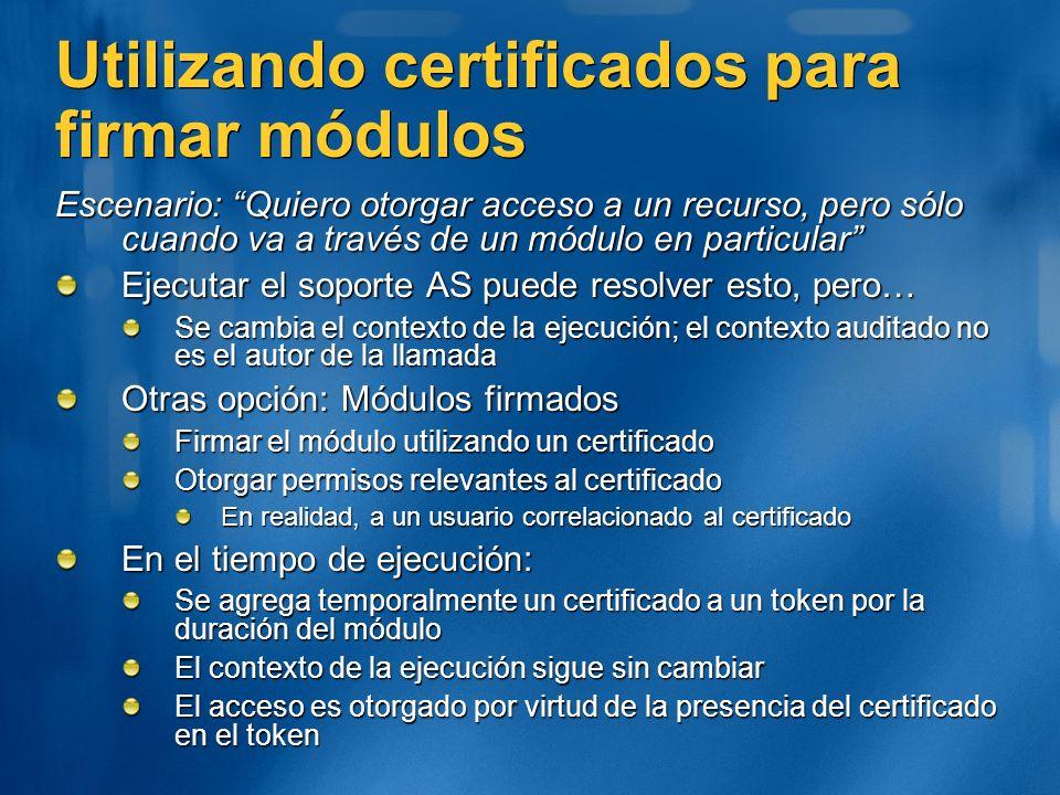 Utilizando certificados para firmar módulos
