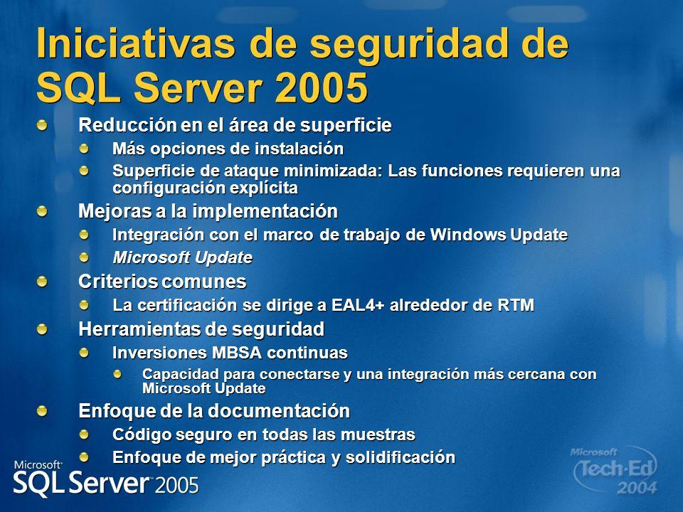 Iniciativas de seguridad de SQL Server 2005