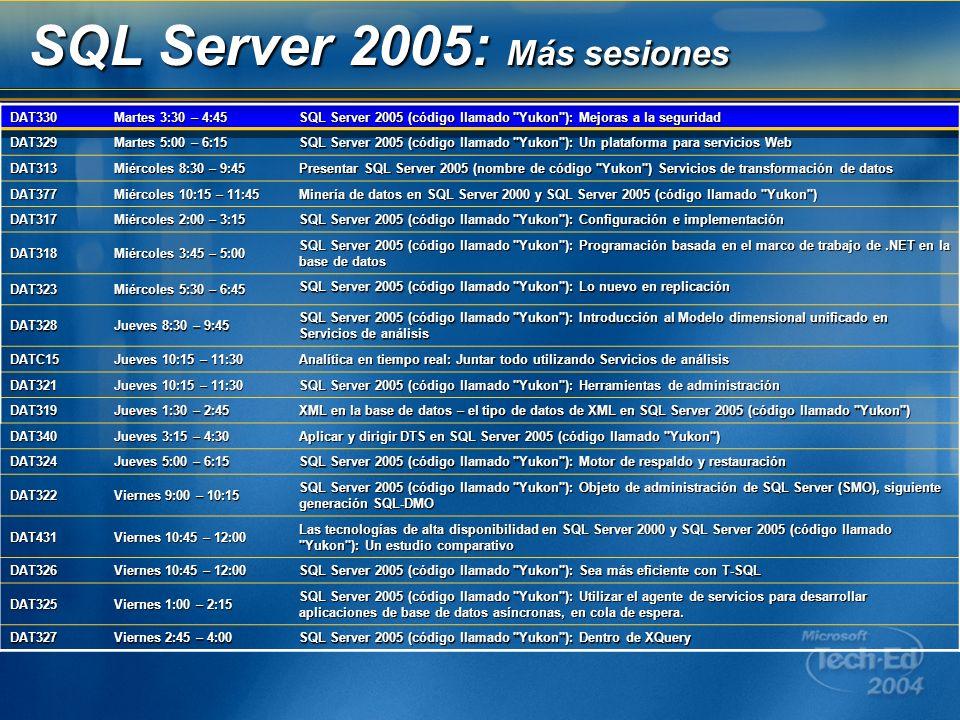 SQL Server 2005: Más sesiones
